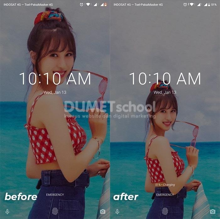 membuat lockscreen idol photoshop